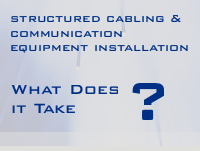 structured cabling and communication equipment installation